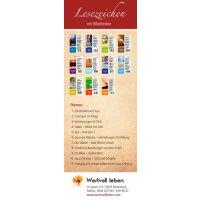 Lesezeichen mit 11 einzelnen Bibelstunden