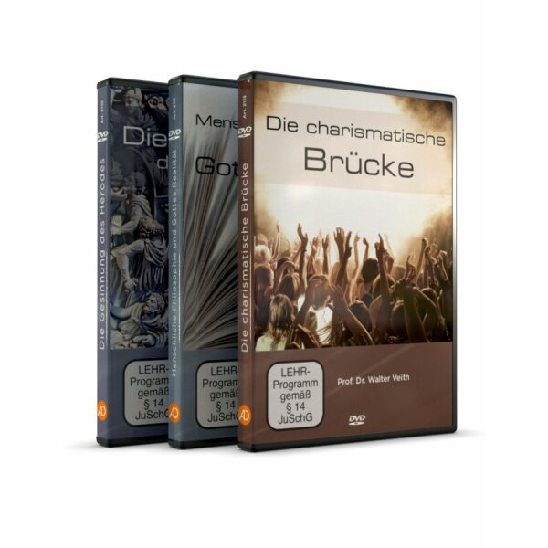 DVD 3er-Set: Die Gesinnung des Herodes / Menschliche Philosophie & Gottes Realität / Die charismatische Brücke