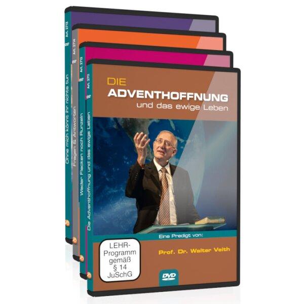DVD 4er-Set: Die Adventhoffnung und das ewige Leben / Weder Flecken noch Runzeln / Ohne mich könnt ihr nichts tun / Fragen & Antworten